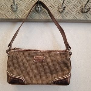The Sak  Brown/Bronze Knit Shoulder Bag EUC